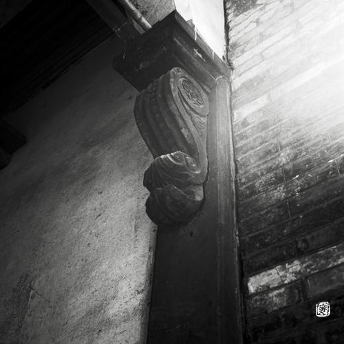 wooden ornamental impost