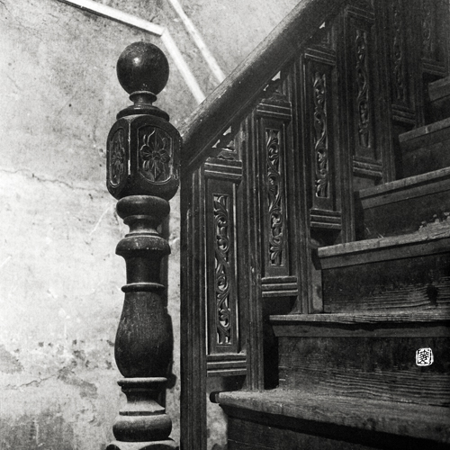 ornamental newel-post