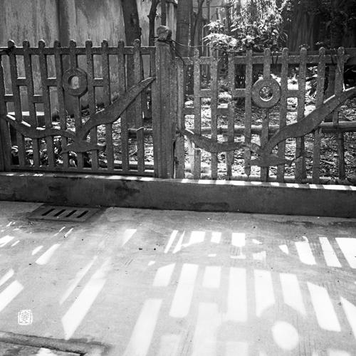 dove motif garden fence